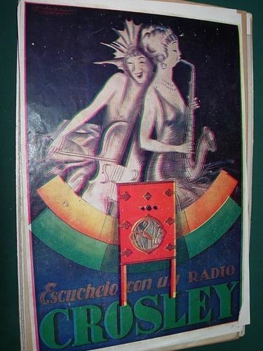 clipping antiguo publicidad radio radios crosley saxofon