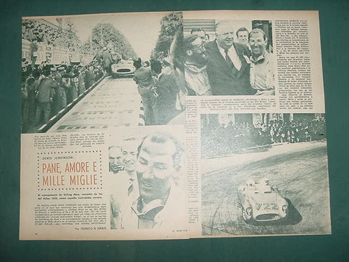clipping automovilismo 1956 sterling moss denis jenkinson 3p