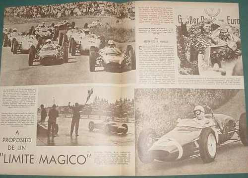 clipping autos 1961 nurburgring phill hill moss von trips 3p