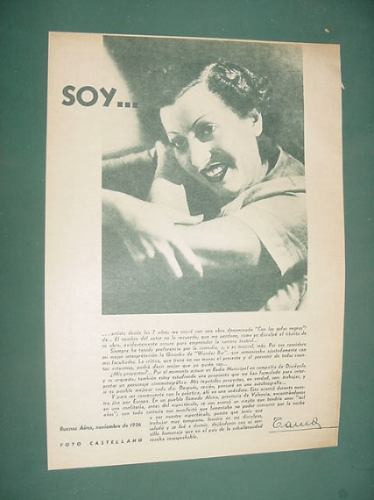 clipping cine argentino actriz tania 1 pg foto como soy