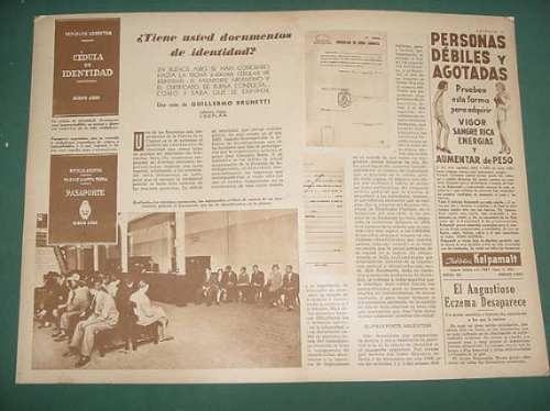 clipping documentos identidad cedulas pasaportes argentina