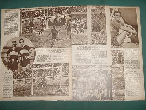 clipping futbol 1942 boca juniors racing club 4 pgs soccers