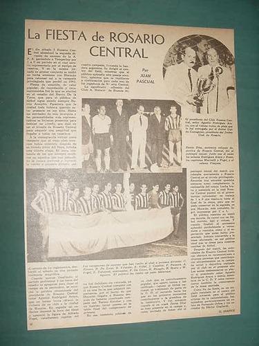 clipping futbol 1942 rosario central vuelve a primera 1 pg