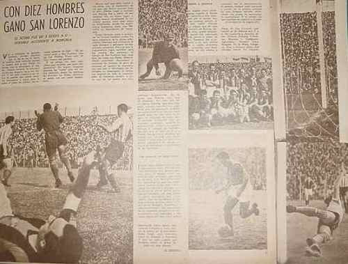 clipping futbol 1942 san lorenzo racing accidente borgnia 3h