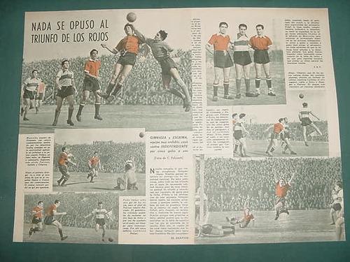 clipping futbol 1945 gimnasia esgrima la plata independiente