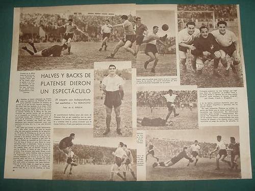 clipping futbol 1945 platense independiente avellaneda 3pgs