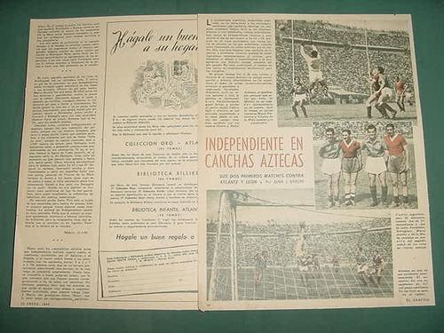 clipping futbol 1948 independiente peru atlante y leon 2pgs