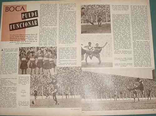 clipping futbol 1961 boca juniors velez sarsfield 3 pgs