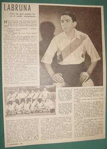 clipping futbol nota 1 pg angel labruna river plate 1940
