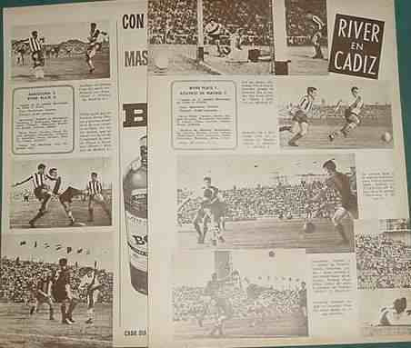 clipping futbol river plate 1961 barcelona atletico madrid
