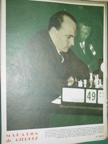 clipping lamina ajedrez stahlberg club institucion sarmiento