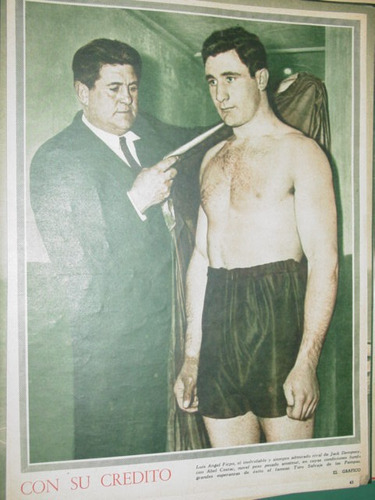 clipping lamina boxeo luis angel firpo abel cestac boxing