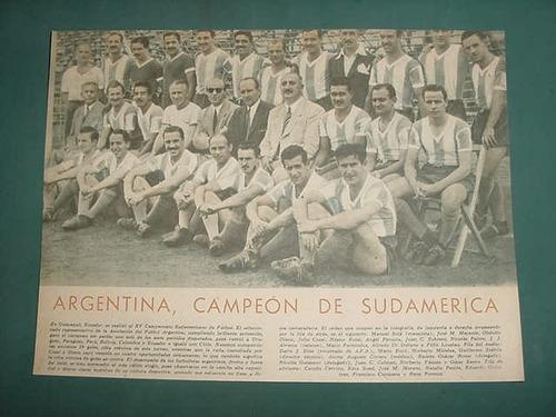 clipping lamina futbol argentina 15 campeonato sudamericano