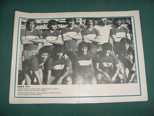 clipping lamina futbol boca juniors 1977 gatti mouzo suñe sa