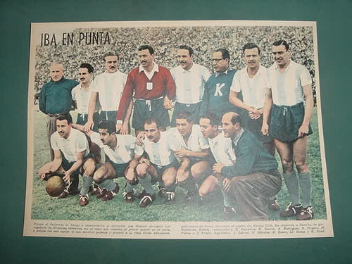 clipping lamina futbol racing club formacion equipo 1940