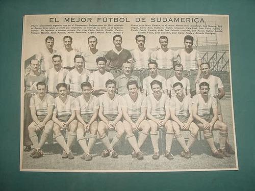 clipping lamina futbol seleccion argentina sudamericano 1946