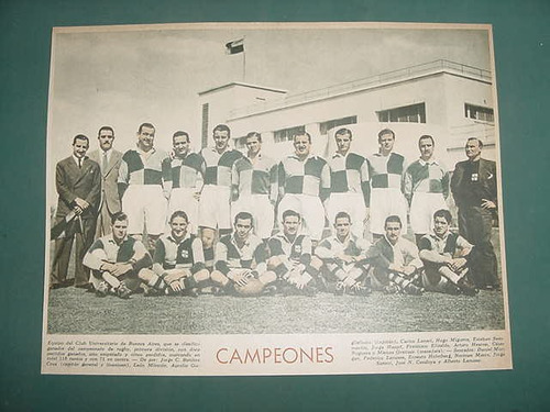 clipping lamina rugby club universitario buenos aires 1940