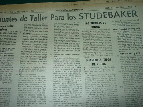clipping mecanica automovil 1pg apuntes taller studebaker