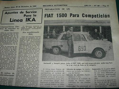 clipping mecanica automoviles 1 pg preparacion fiat 1500