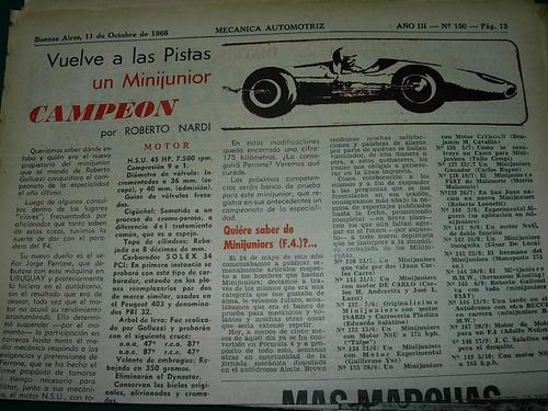 clipping mecanica autos 1 pg minijunior campeon motor nsu