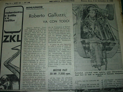 clipping mecanica autos 1 pg minijunior roberto galluzzi