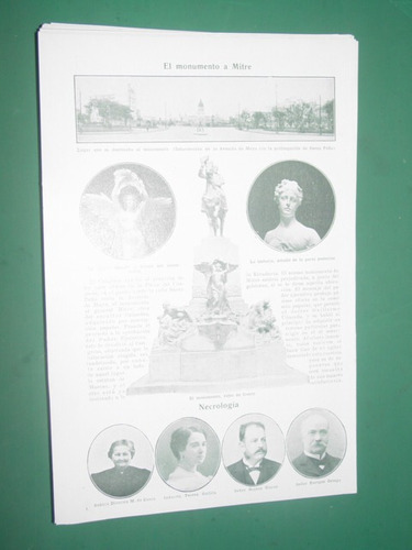 clipping monumento a mitre maqueta aprob del congreso 1 p/4f