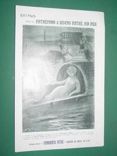 clipping publicidad 1910 fonografos pathefono discos pathe
