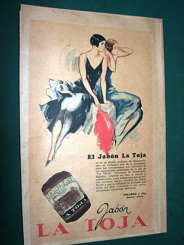 clipping publicidad antigua jabon la toja polledo & cia.