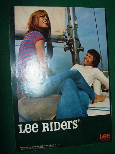clipping publicidad antigua jeans lee riders pantalones ropa