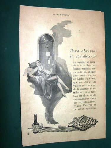 clipping publicidad antigua malta palermo convalescencia