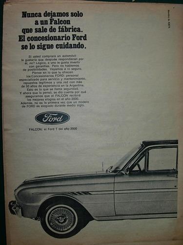 clipping publicidad auto automoviles ford falcon nunca solo