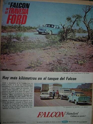 clipping publicidad auto automoviles ford falcon travesia