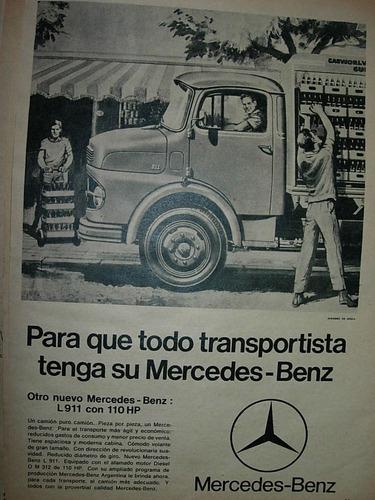 clipping publicidad camion camiones mercedes benz transporte