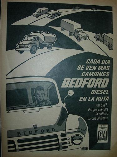 clipping publicidad camiones bedford diesel camion ven ruta