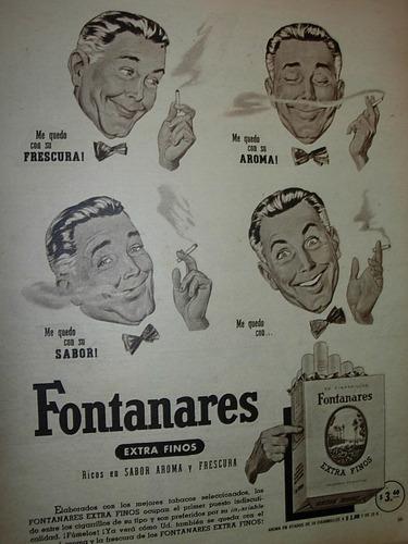 clipping publicidad cigarrilos fontanares ilustrada dibujos