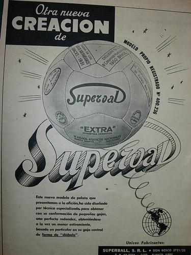 clipping publicidad futbol pelotas pelota superval extra
