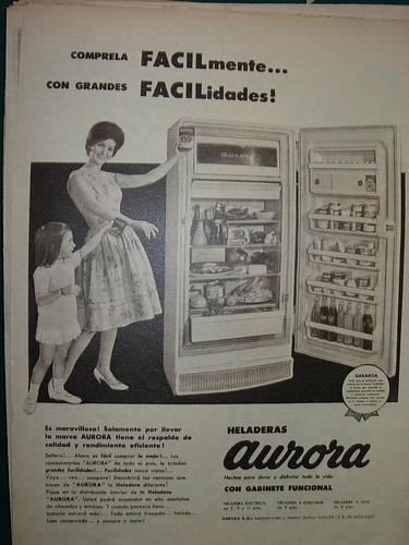 clipping publicidad heladeras aurora facilidades gabinete