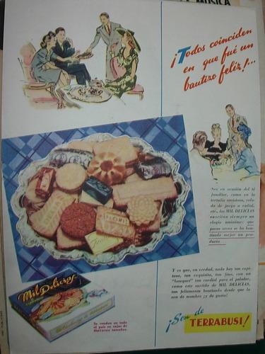 clipping publicidad kiosco galletitas mil delicias terrabusi