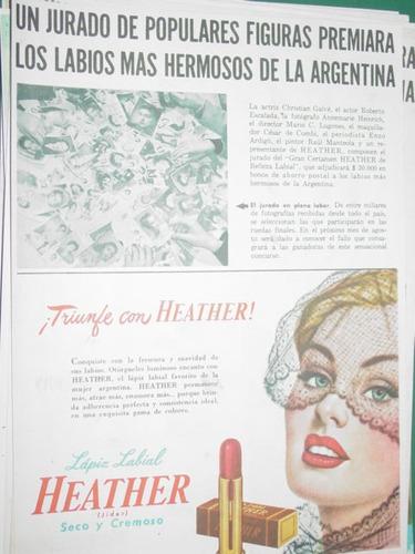 clipping publicidad labial heather premio jurados populares