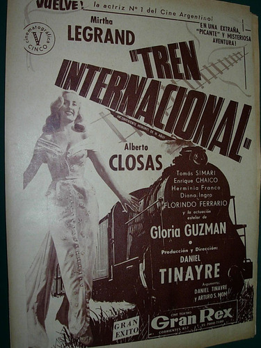clipping publicidad mirtha legrand tren internacional closas