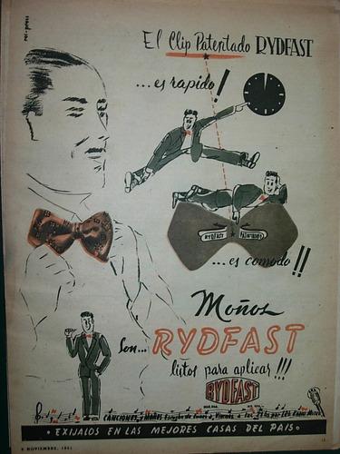 clipping publicidad moños rydfast moda ropa costura prendas