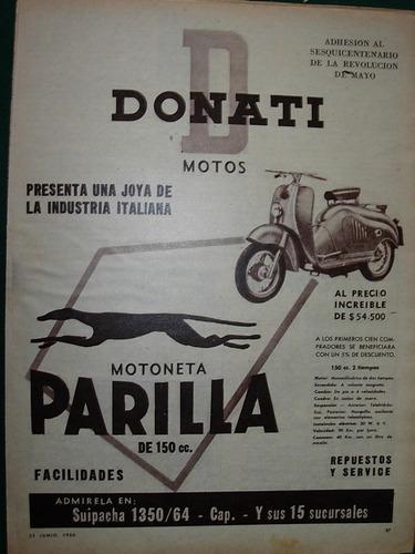 clipping publicidad moto motociclismo motoneta parrilla 150