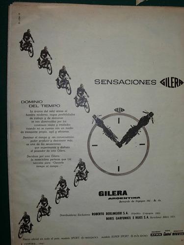 clipping publicidad moto motociclismo motos gilera sensacion