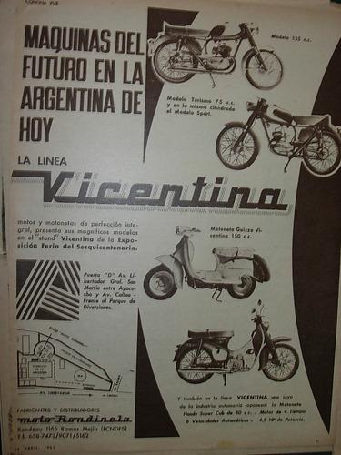 clipping publicidad moto motoneta linea vicentina motos