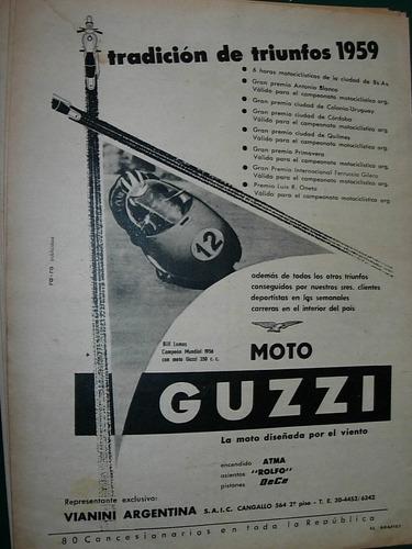 clipping publicidad motos motociclismo moto guzzi triunfos