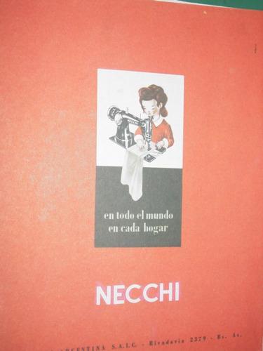 clipping publicidad necchi sewing machine maquina coser