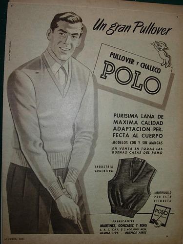 clipping publicidad pullover chaleco polo moda ropa prendas
