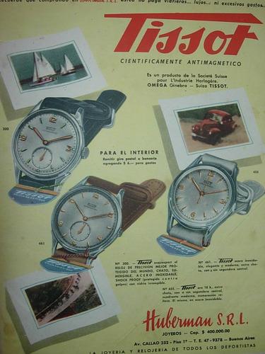 clipping publicidad reloj relojes tissot relojeria huberman
