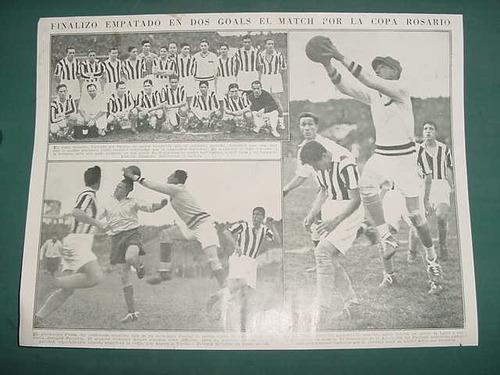clipping recorte futbol copa rosario 1935 team rosarino 1pg