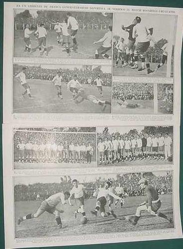clipping recorte futbol match rosario santa fe uruguay 2 pg